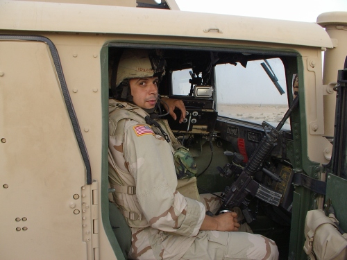 On yet another convoy, Anbar Province, Iraq, Fall 2005