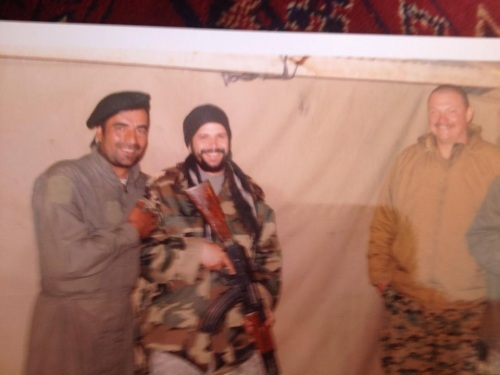 Captain Crazy, me in an Afghan Army uniform and a Marine from an Embedded Training Team, early 2009.