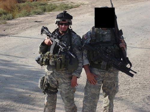 Eric Lauzier in Iraq