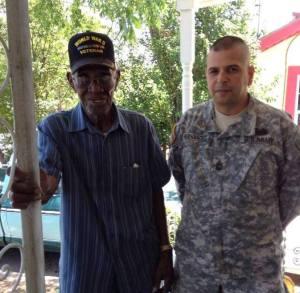 Hernandez with Mr. Richard Overton, America's oldest known WW2 veteran