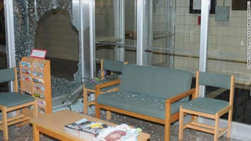 At Sandy Hook, the shooter shot through this window to bypass the locked door