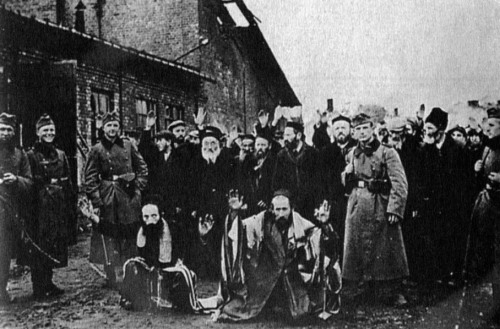 Members of Police Battalion 101 with Jewish victims. Cover photo from the book Ordinary Men.